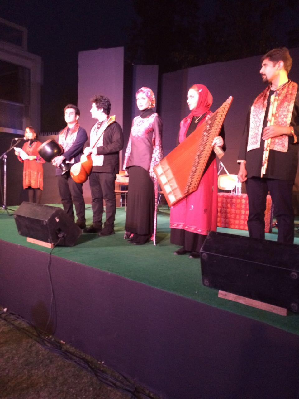 Cultural event at India International Center lawns, April 2, 2016 - Boman Irani and the Basha Ensemble from Tehran