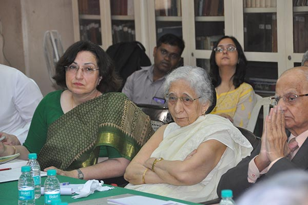 Dr Shernaz Cama, Dr Armaity Desai and Minoo Shroff at Jiyo Parsi meet on November 20, 2014 in BPP boardroom